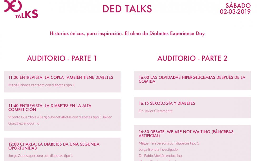 Consulta los horarios y actividades previstas para el Diabetes Experience Day