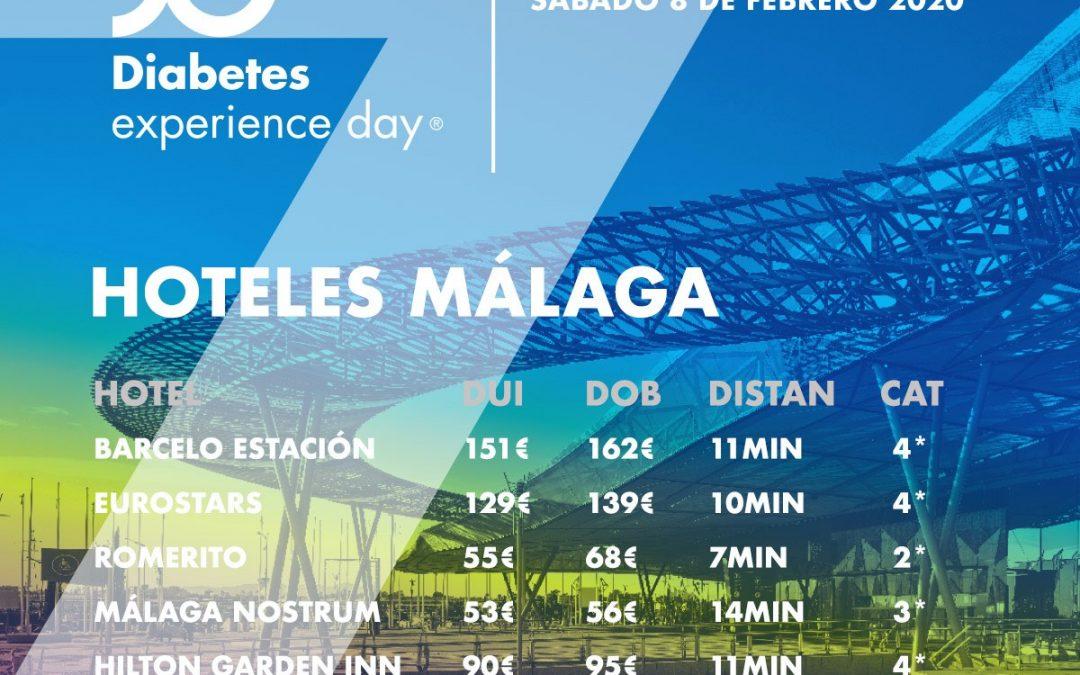 Los mejores hoteles para venir al Diabetes Experience Day en Málaga